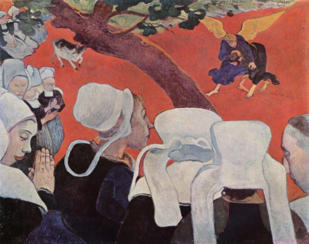 Gauguin espressionismo sintetismo simbolismo visione dopo il sermone