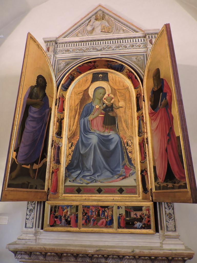 Pala d'altare Quattrocento Rinascimento Beato Angelico