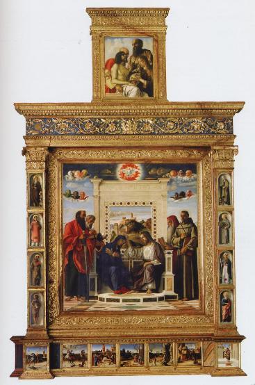 Pala d'altare Quattrocento Rinascimento Bellini