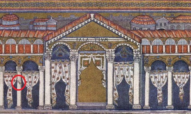 Ravenna Apollinare mosaico arte bizantina