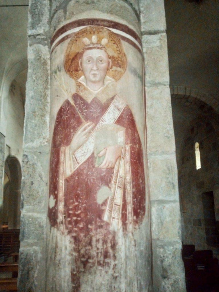 Romanico Piemonte Medioevo Affresco Stefano