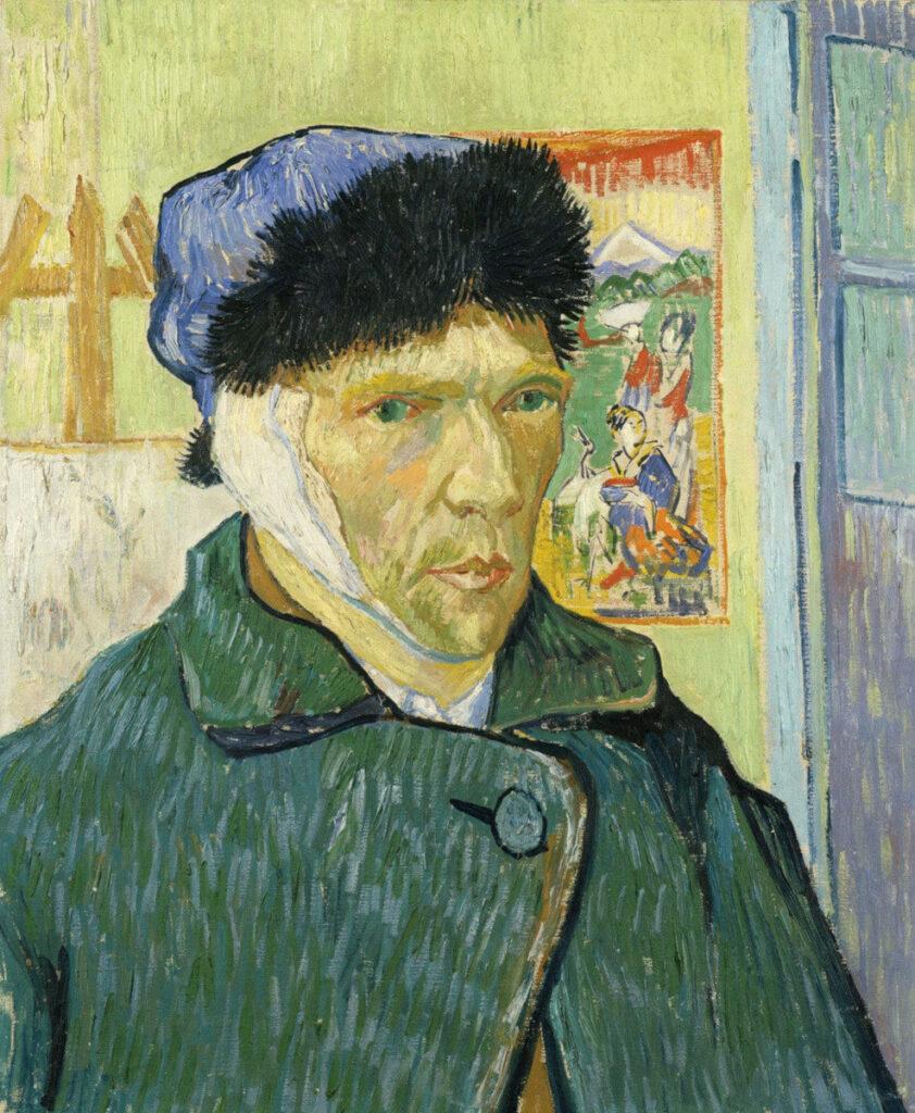 Van Gogh orecchio autoritratto Arles