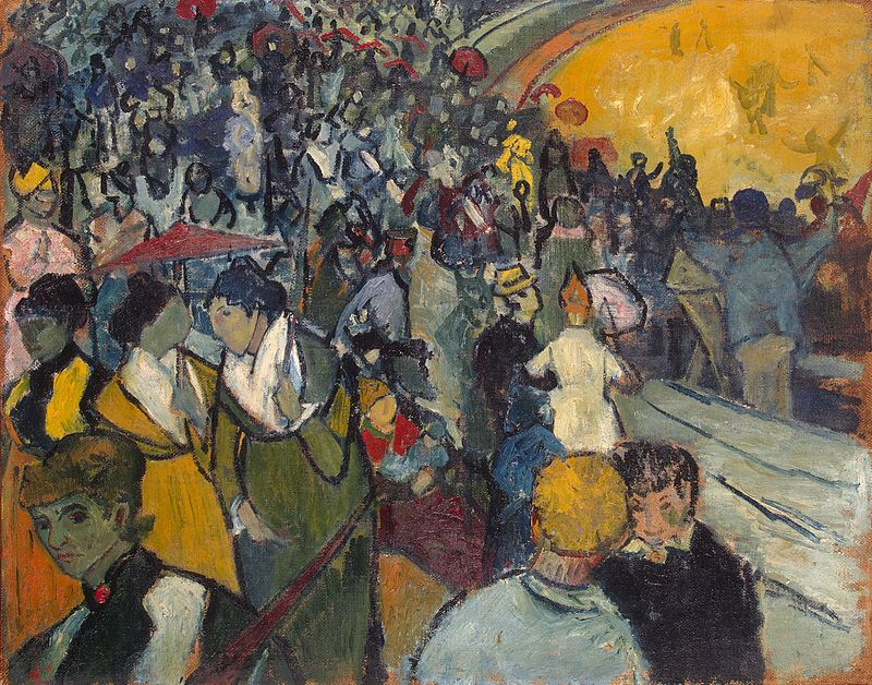 Van Gogh spettatori all'arena Gauguin Arles