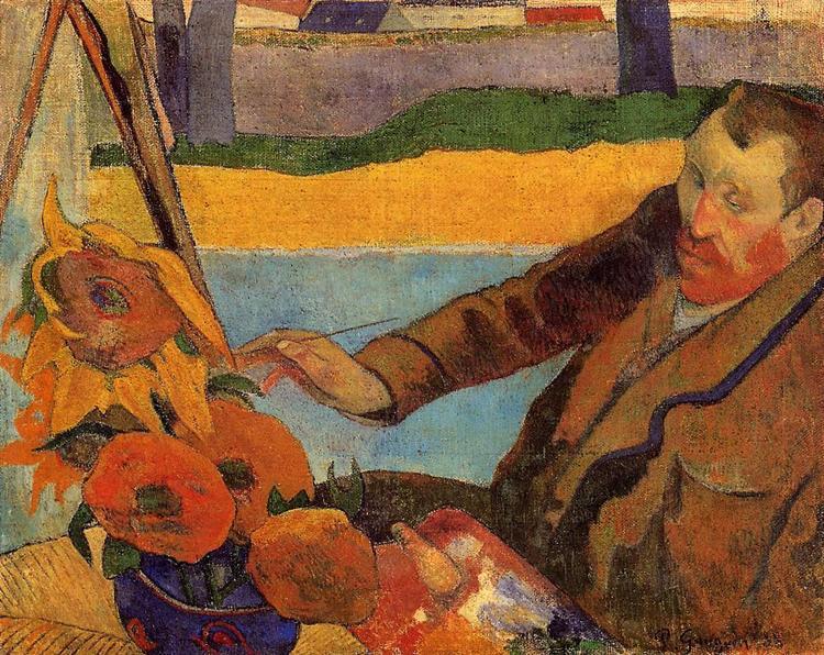 Van Gogh Gauguin ritratto girasoli