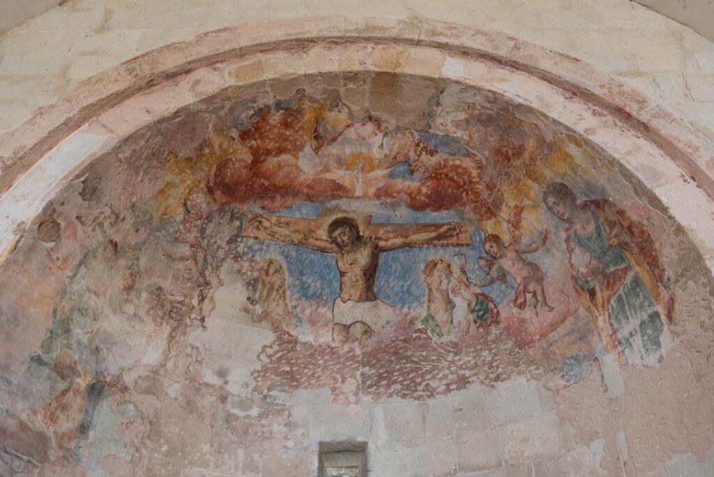 Cripta bizantina rupestre Crocifissione Annunziata Lizzano Puglia Taranto