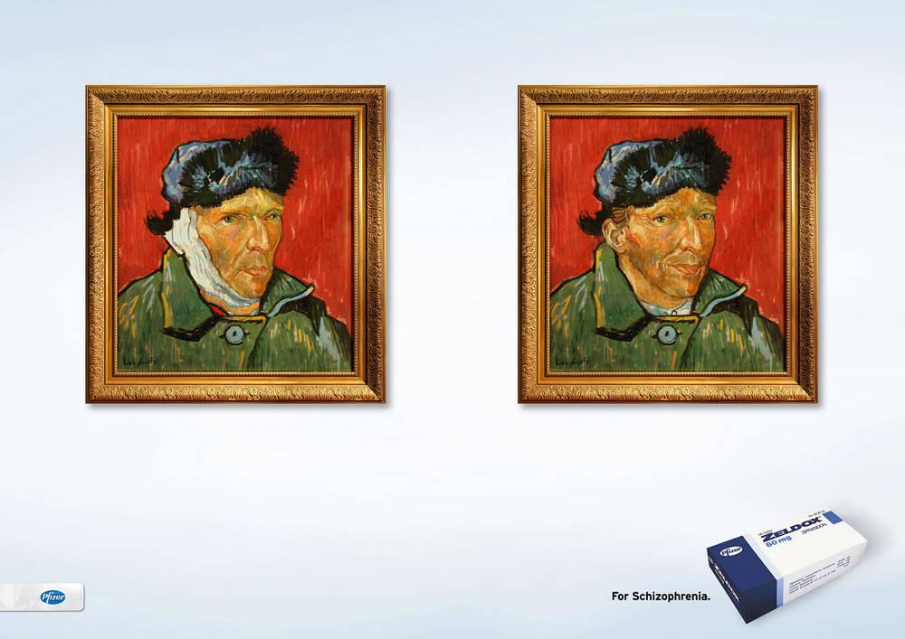 Van Gogh disabilità malattia pubblicità