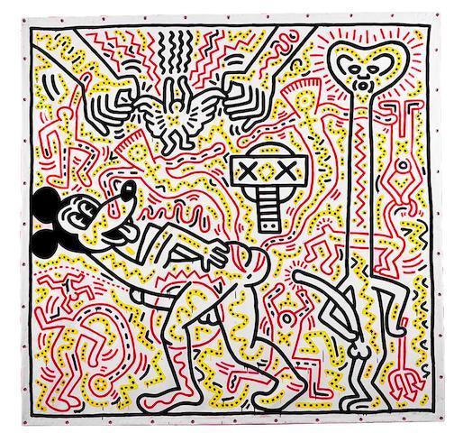 Aids arte Haring Stati Uniti d'America Topolino Mickey Mouse HIV